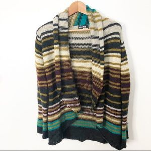 Wooden Ships Striped Mohair & Wool Cardigan M/L